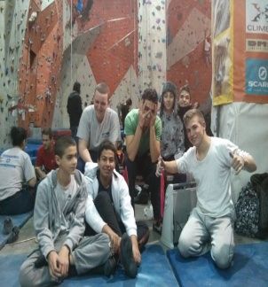 Picture of climbers in a gym